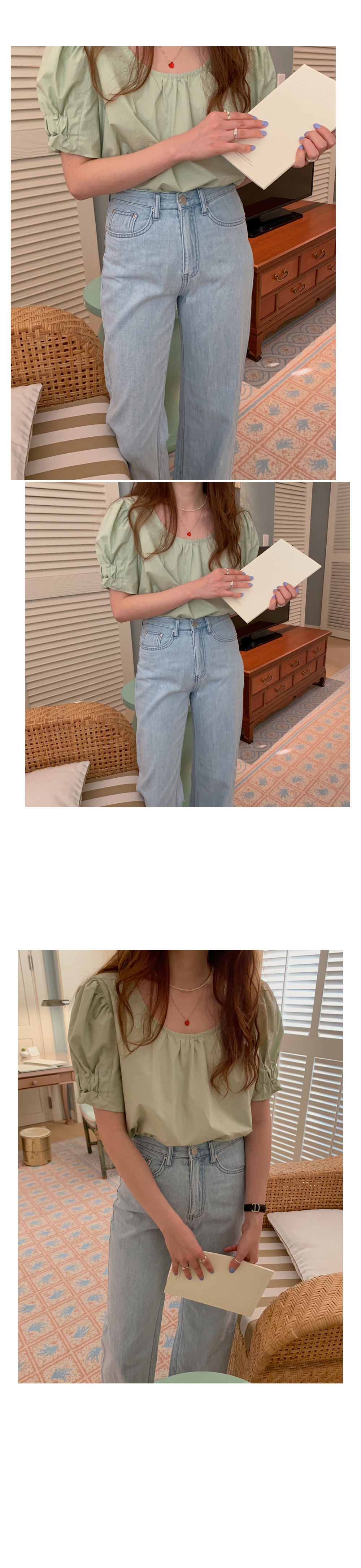 Hbc55a7e776224ae1a72a750ea1689bcc0 - Summer O-Neck Short Puff Sleeves Cotton Loose Solid Blouse