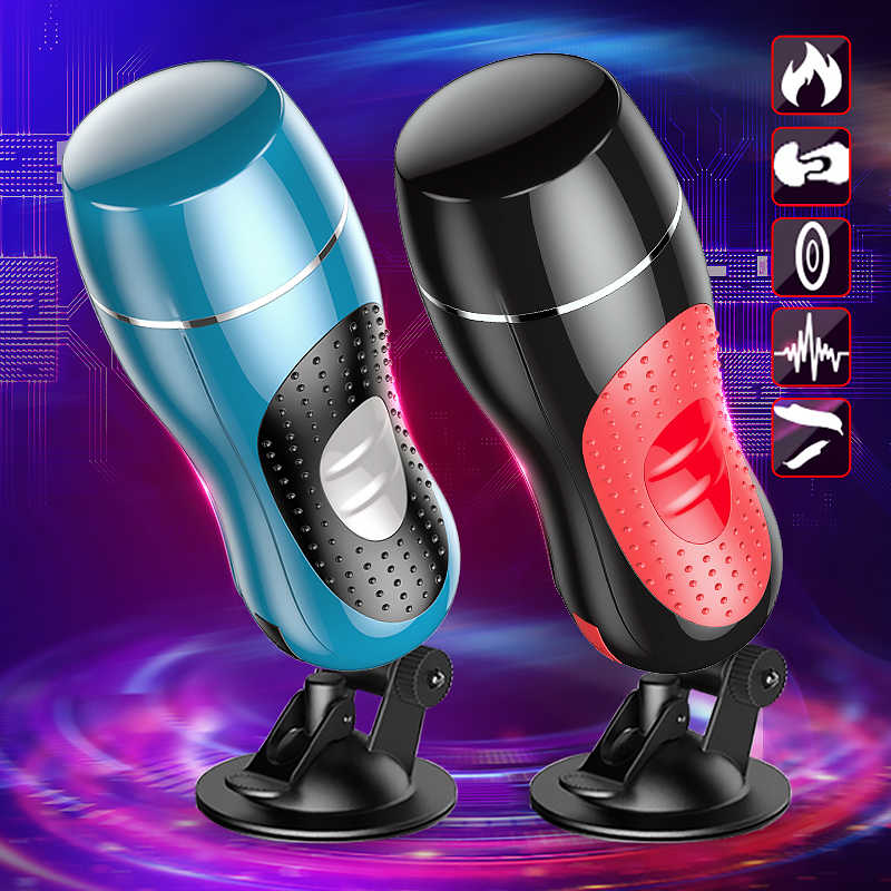 New Automatic Male Masturbator Pressure Sucking vagina masturbation cup 360 Degree Wrapped Heating sex toys for men