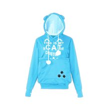 CHAMSGEND Sweatshirts with ears hoodies with Kangaroo pocket kpop Long Sleeve Letter Printed THIS IS MY CAT Hooded Pullover F723(China)