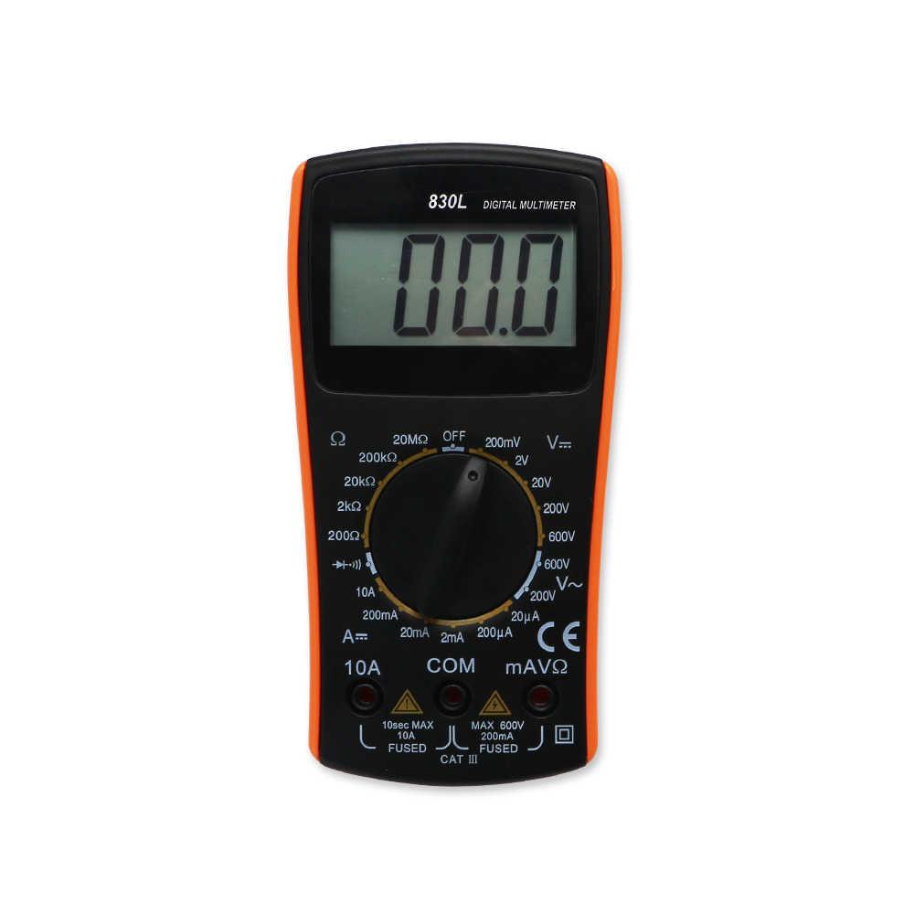 SHAHE Nuevo LCD multímetro Digital 2000 Counst AC DC eléctrico portátil probador eléctrico pantalla grande VC830L