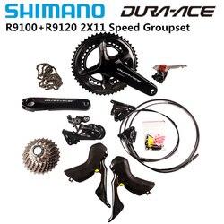 SHIMANO DURA ACE R9100 R9120 2x11 Kit de groupe de vitesse 165mm 170mm 172.5mm 175mm 53-39T 52-36T 50-34T pédalier vélo de route vélo