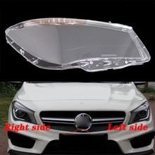 FÜR Mercedes Benz W117 CLA 12 16 front scheinwerfer transparent lampenschirme lampe shell masken scheinwerfer abdeckung objektiv Scheinwerfer glas