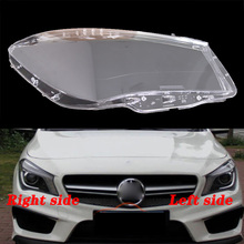 FOR Mercedes Benz W117 CLA 12 16 front headlamps transparent lampshades lamp shell masks headlights cover lens Headlight glass