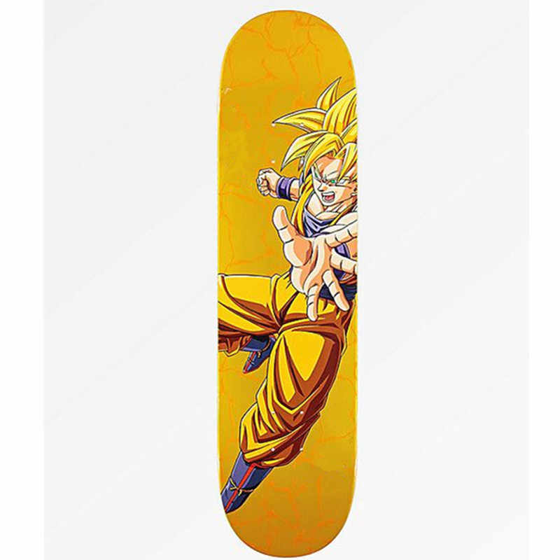 Dibujo Animado Dragon Ball Super Saiyan Son Goku El Skateboard