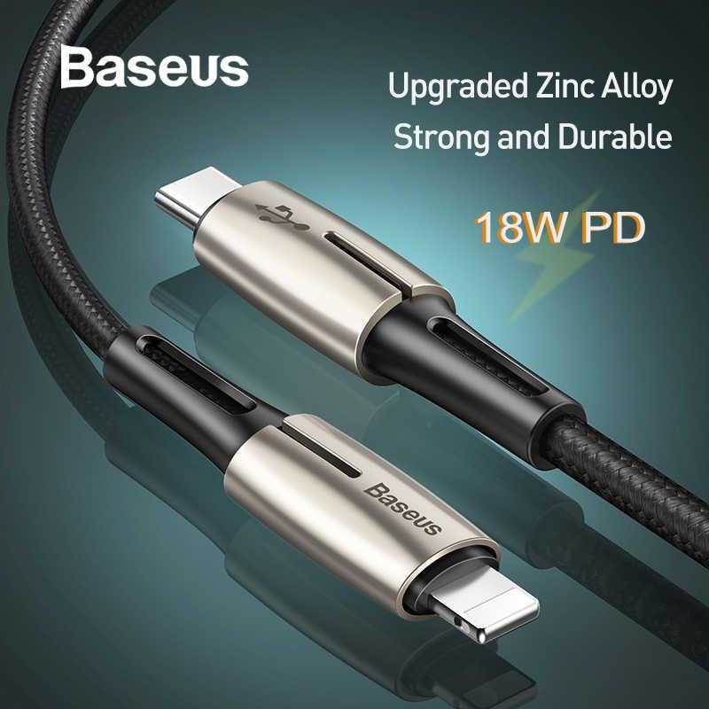 Baseus 18W PD 3.0 rodzaj usb C kabel przewód do ładowania dla iPhone 11 Pro X XS Max szybkie ładowanie USB-C typu C dla błyskawicy przewód danych