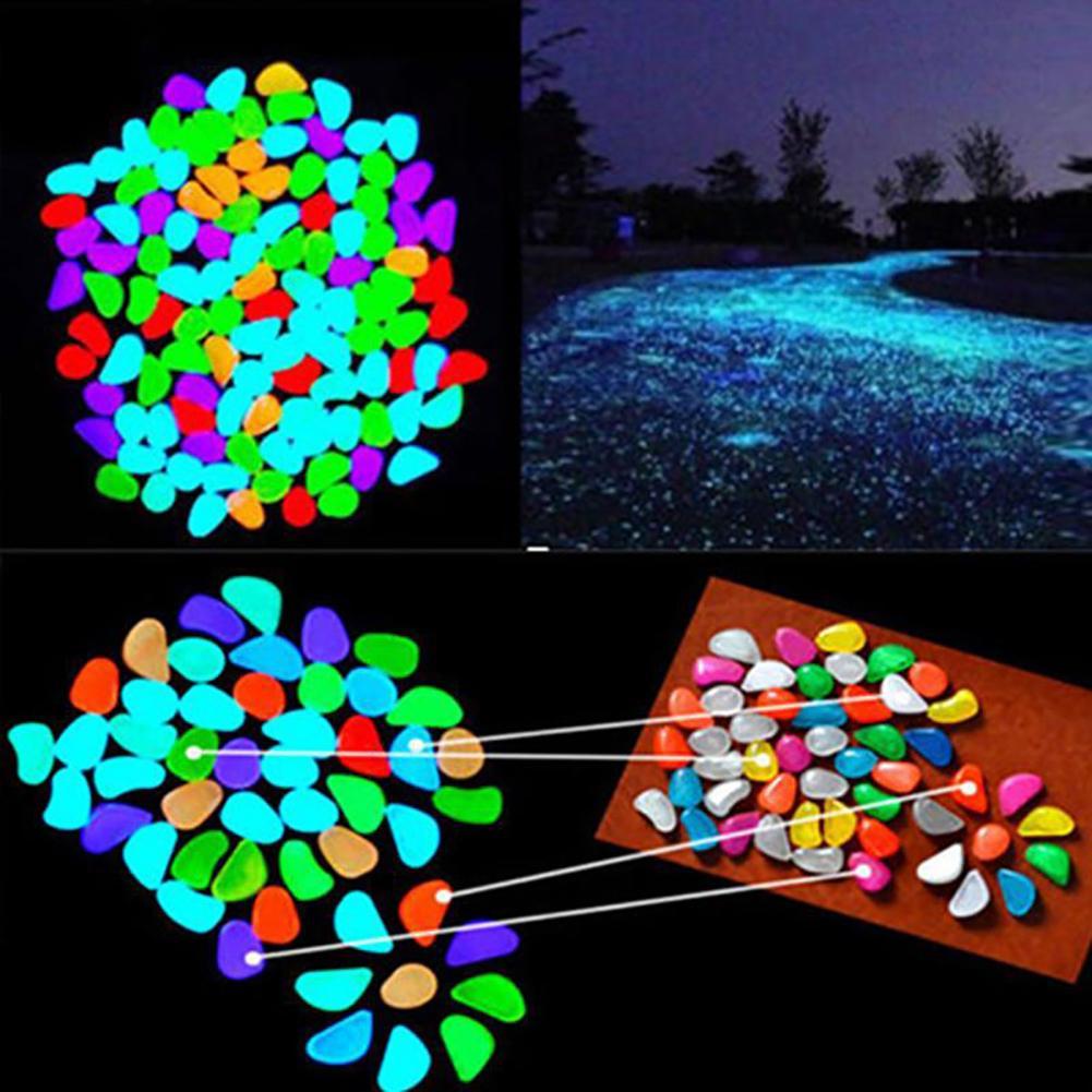 10Pcs צבע זוהר זוהר מלאכותי אבן אקווריום דגי טנק בונסאי גן דקור זוהר בחושך חלוקי אבנים חדש