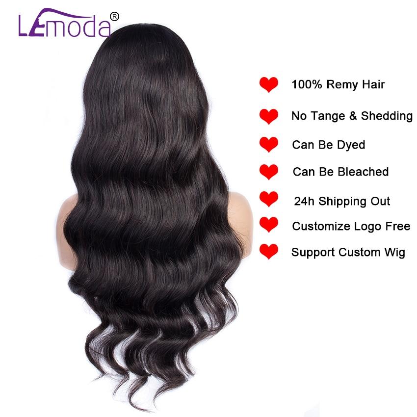 Hbc5695980e754594a4e75b703e30d107H 26 Inch Body Wave Wig Malaysian 4x4 Closure Wig Preplucked Natural Human Hair High Ratio Lemoda 150% Remy Hair Lace Closure Wig