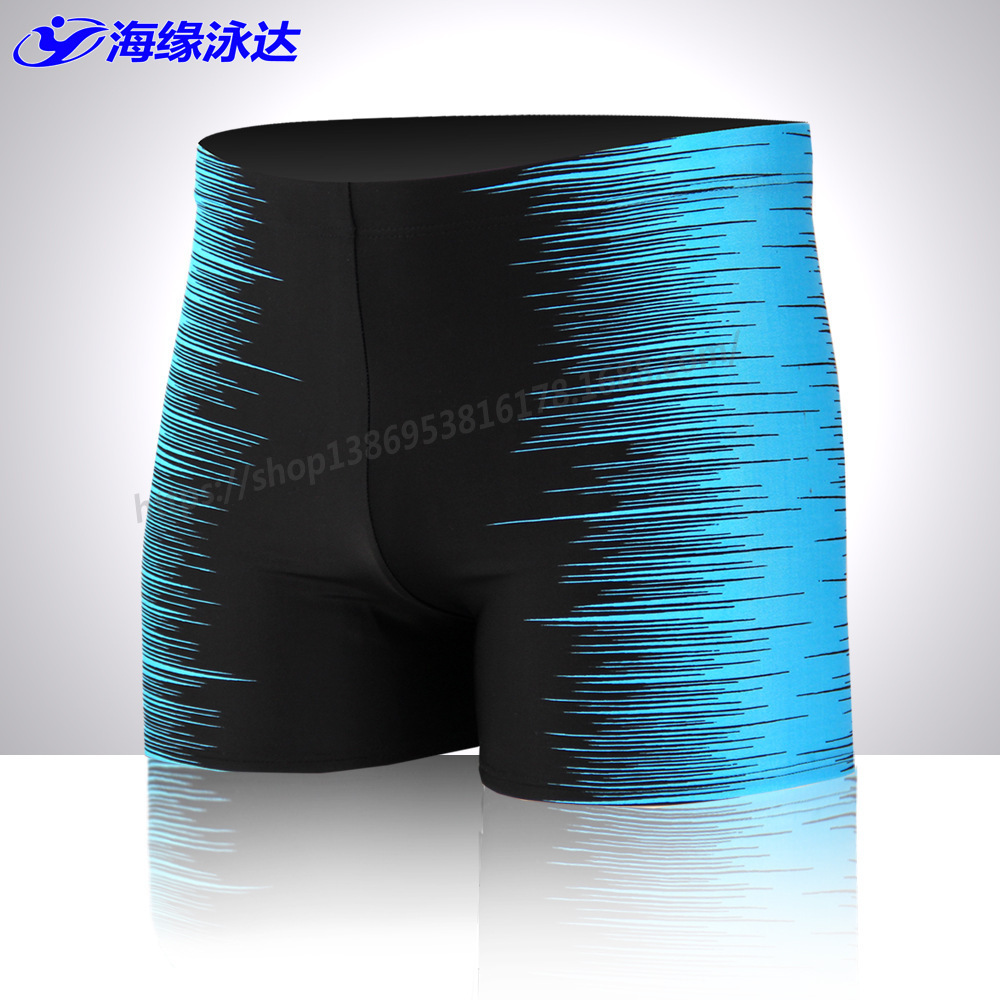 Swimming Trunks New Style MEN'S Swimming Trunks Hot Selling Fashion Loose Quick-Dry Large Size Boxer Printed Hot Springs Swimmin