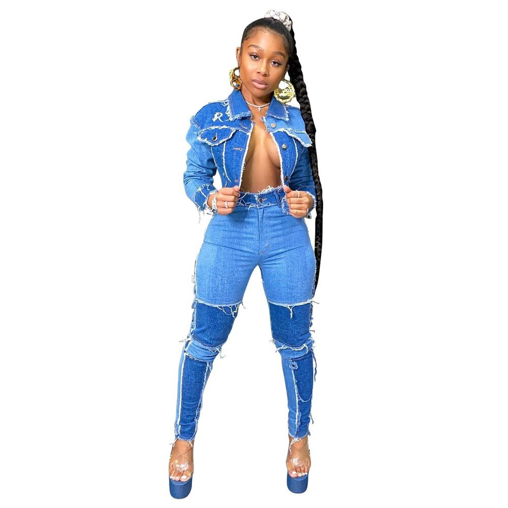 Fashion high waist women s jeans 2021 new slim high profile pencil pants stretch tights casual