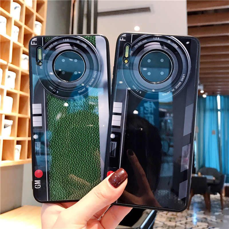 Baru untuk HUAWEI Mate 30 Pro Case Vitreous Ponsel Cermin Mate30pro Case Penutup untuk Huawei Mate30 Kasus Bisnis Kaca Fundas tritone