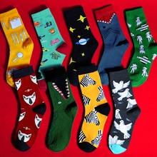 Funny Socks Harajuku Bear Men Christmas-Gifts Fish-Avocado Women for And Zebra Pigeons