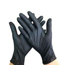 Nitrile-Gloves Prep Disposable Black Cooking-Gloves/kitchen 50/100pcs Food Waterproof