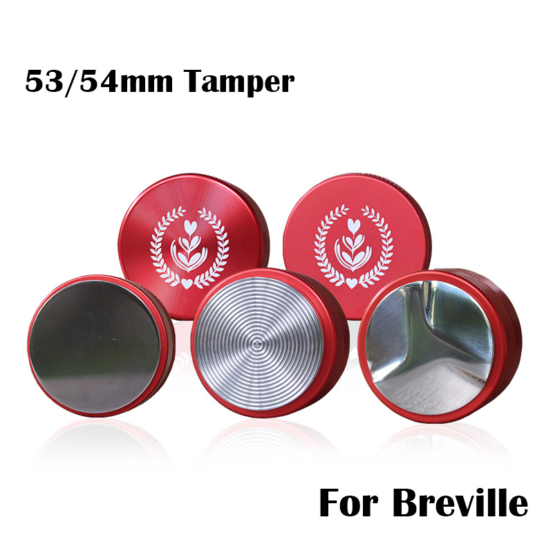 Breville 53mm Adjustable 304 Stainless Steel Coffee Espresso Tamper Macaron Thread Base Distribution Tools