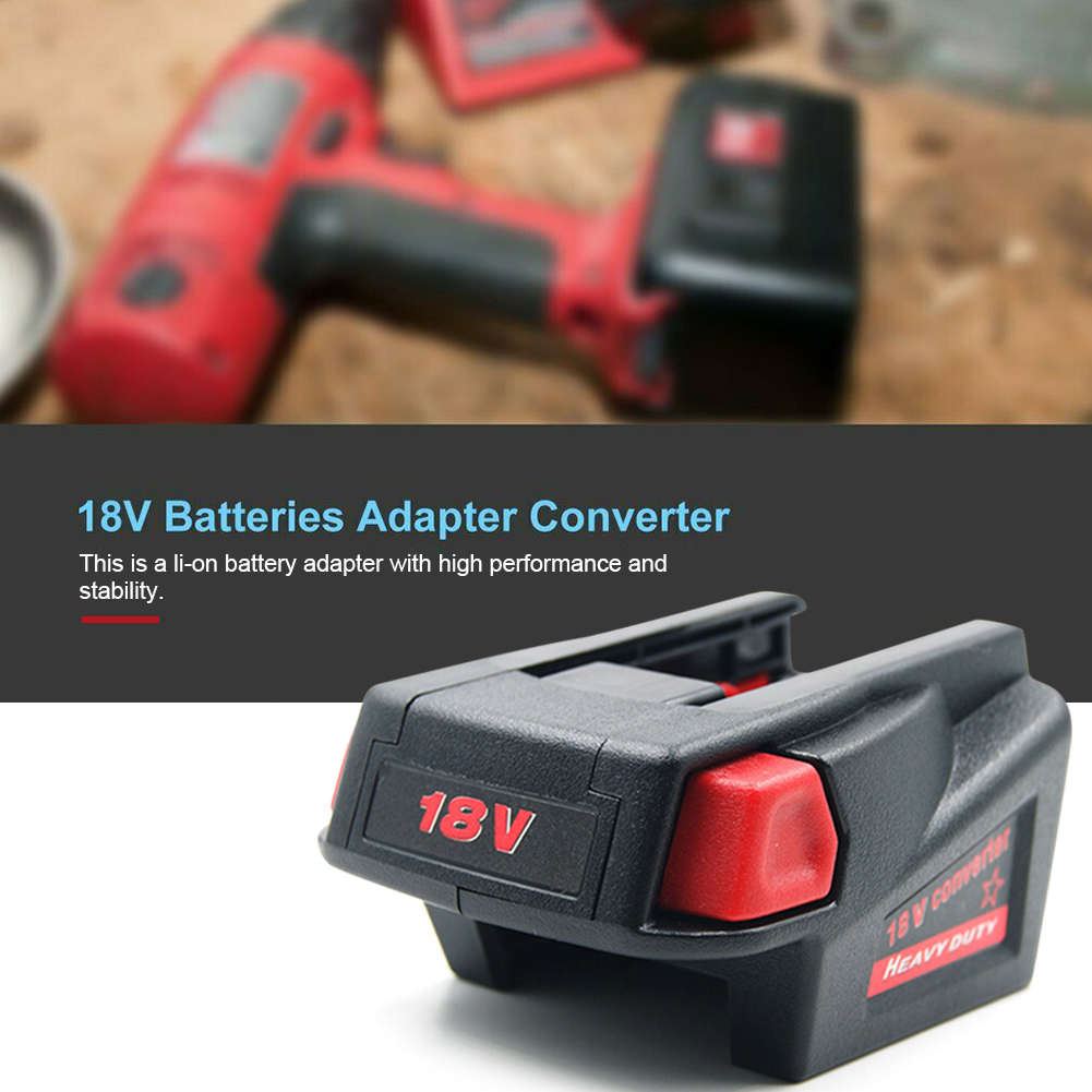 Battery Adapter Converter With USB Port Charging For Milwaukee M18 18V Li-ion Battery To Milwaukee V18 48-11-1830 Battery