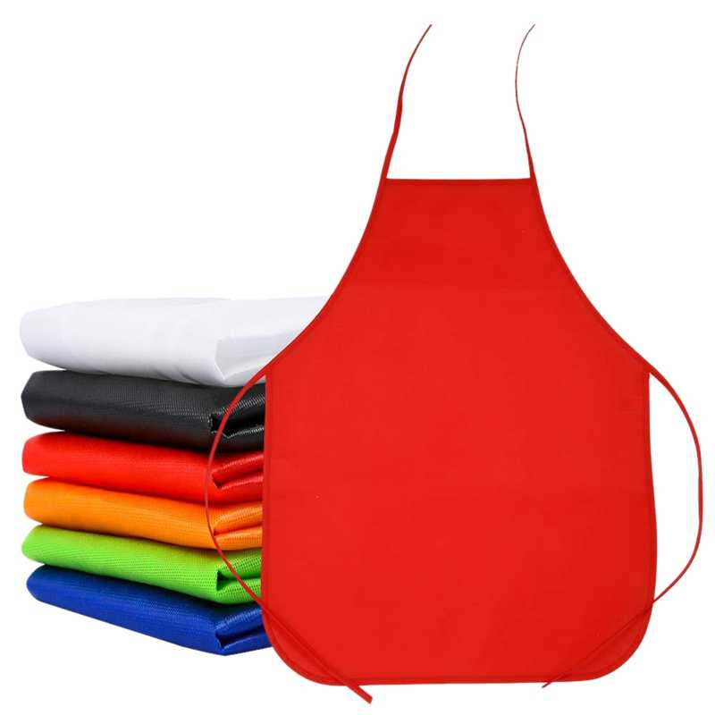 6 Sets Of Children's Waterproof Non-Woven Art Painting Apron Baking Apron Cooking Apron Machine Can Be Cleaned 6 Colors