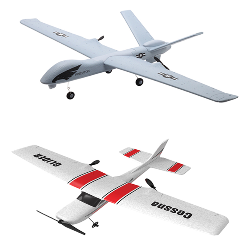 RC Airplane Plane Z51 20 Mins Flight Time Gliders 2.4G aeromodelo with LED Hand Throwing Wingspan Foam Plane Toys Kids Gifts image
