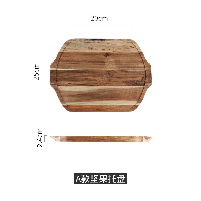 1pcs-Wooden plate