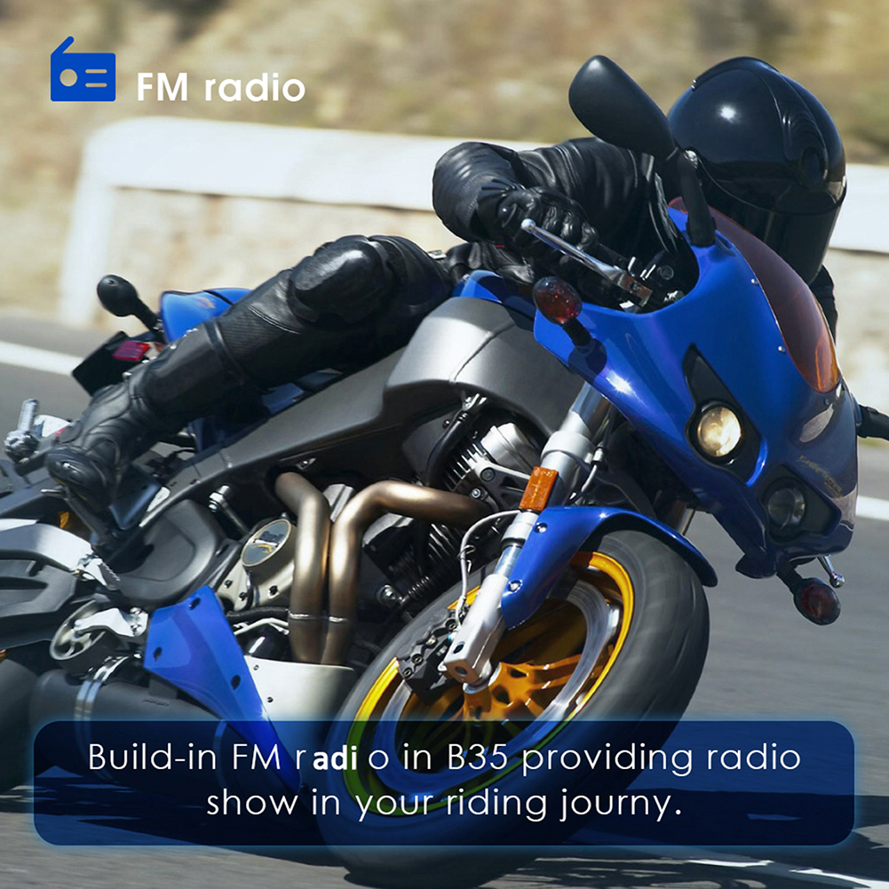 QTB35 wasserdichte Motorrad Motorrad Helm Intercom CSR Bluetooth 4,1 Headset Sprech Neue heiße boutique