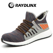 RAYDLINX Breathable Men's Safety Shoes Boots With Steel Toe Cap Casual   Industries Construction Work Shoes