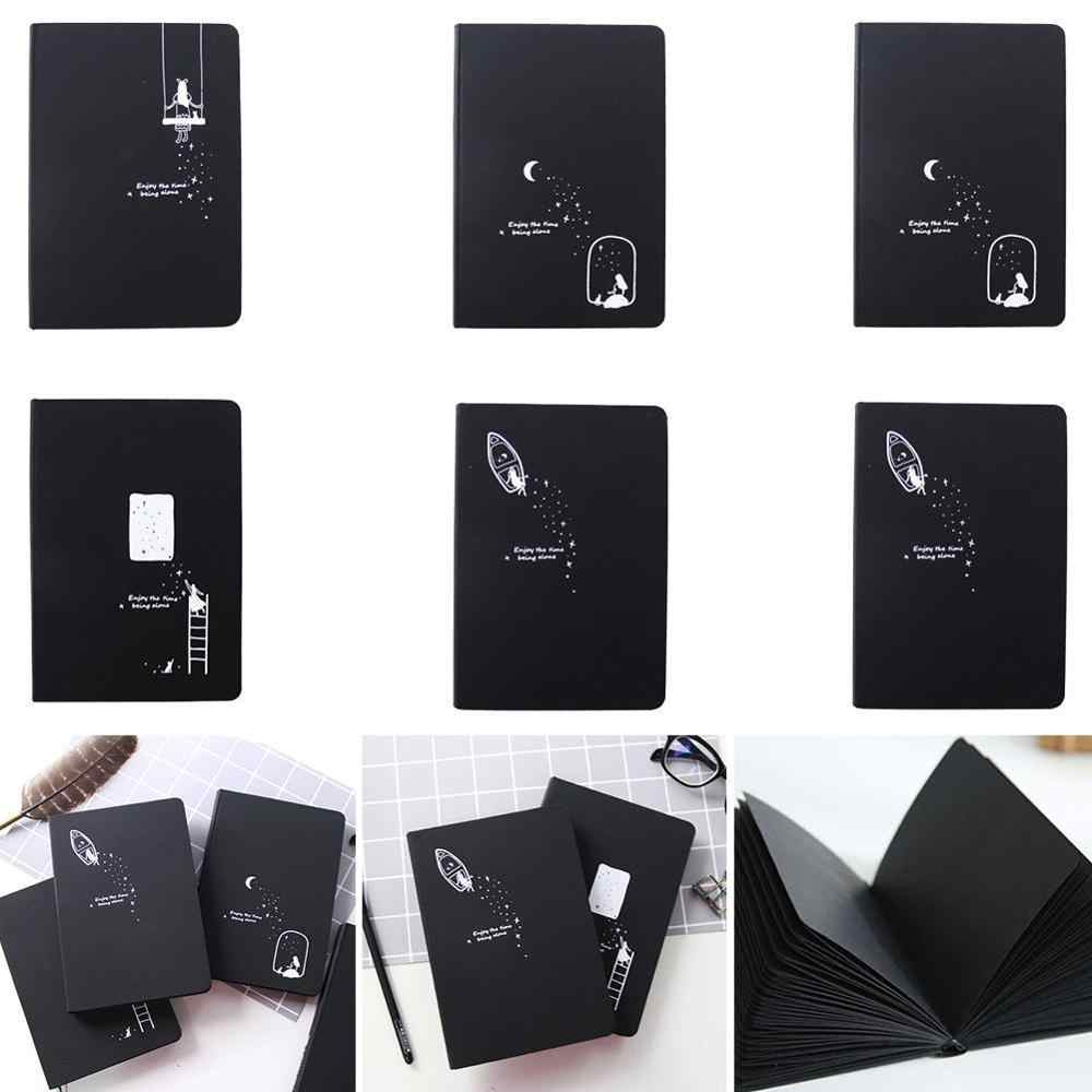Stellata Nero di Carta Notebook Planner Album Sketchbook Libro del Diario di Cancelleria FAI DA TE Nota Scuola Ufficio di Cancelleria Papelaria