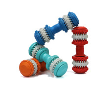 Pet Rubber Toys Dog Goods Clean Teeth and Leak Food Dumbbell Molar Small, Medium Large Dogs Accessories