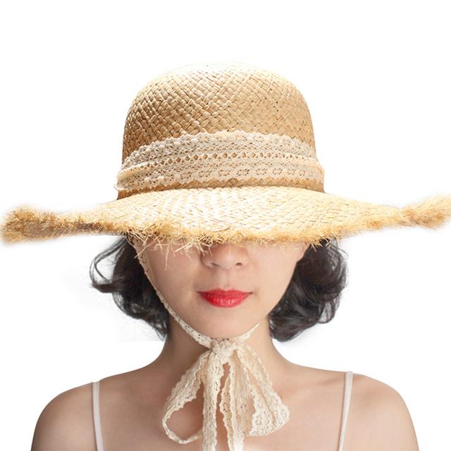 Sombreros de paja hechos a mano , rafia natural