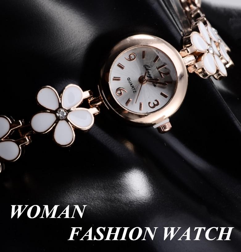 bayan kol saati Bracelet Flower Ladies Watches Special Design Elegant Women's Watch Quartz Wrist Watch Female Clock Gift relogio