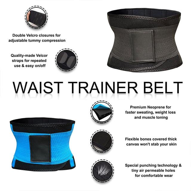 Waist Trainer Neoprene Body Shaper Slimming Sheath Belly Reducing Shaper Tummy Sweat Shapewear Workout Trimmer Belt Corset Women 3