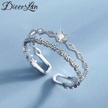 Bohème Vintage 925 en argent Sterling Zircon couche chaîne anneaux pour femmes bijoux de mariage anneaux réglables Anillos 2021