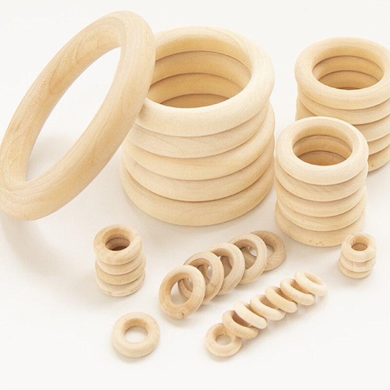 15-100 мм Плетеный абажур из натурального дерева круг поделки своими руками украшение для изготовления ювелирных изделий деревянные кольца д...