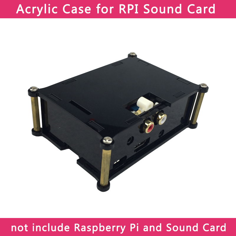 Raspberry Pi Analog Audio Board Acrylic Case For HIFI DAC Sound Card Box Shell For Raspberry Pi 3 Model B+/3B/2B