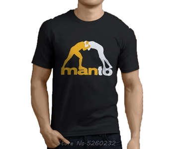 New MANTO Brazilian Jiu Jitsu Men's Black T-Shirt Size S-3XL  Print T Shirt Mens Short Sleeve Hot Tees Streetwear