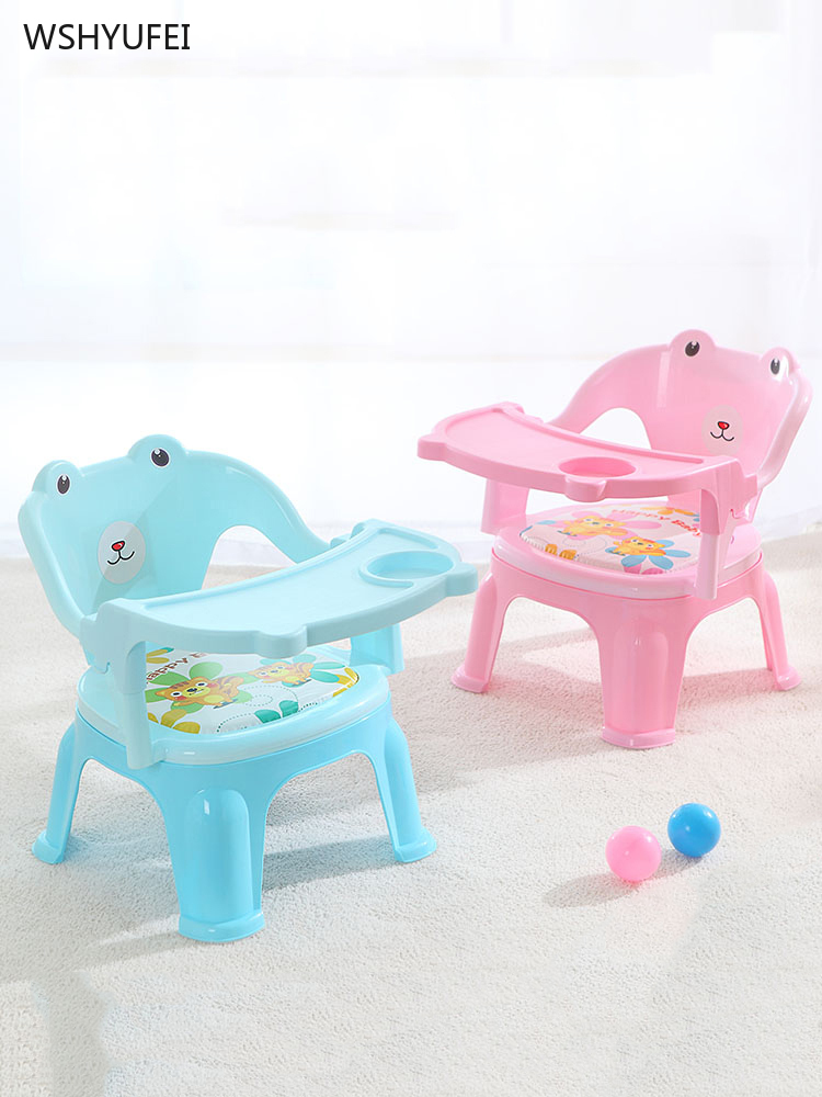 Cartoon Children's Dining Chair With Plate Baby Table Baby Dining Chair Dining Table Back Seat Called Chair Baby Plastic Stool