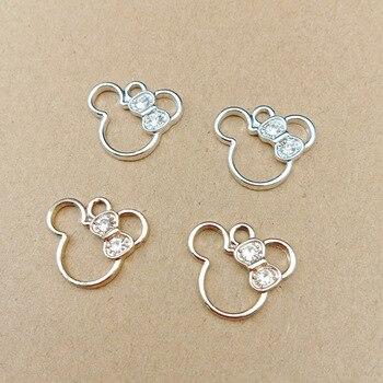 10 sztuk 16x19mm kryształowe wiszące cartoon do tworzenia biżuterii kolczyk wisiorek naszyjnik i bransoletka charms
