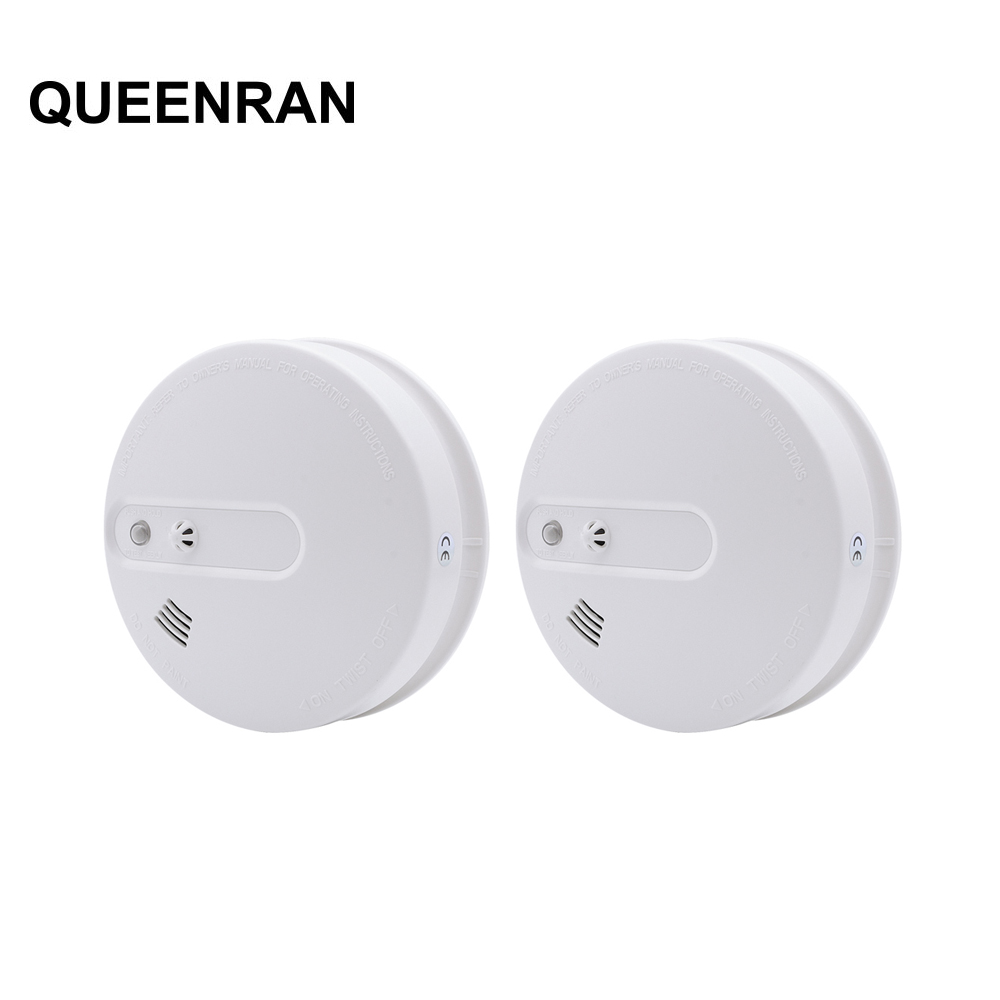 2pcs 85dB Wireless Heat And Smoke Detector Fire Alarm System For Home Smart Smoke Temperature Sensor For 433MHz WIIGSM G90B Plus