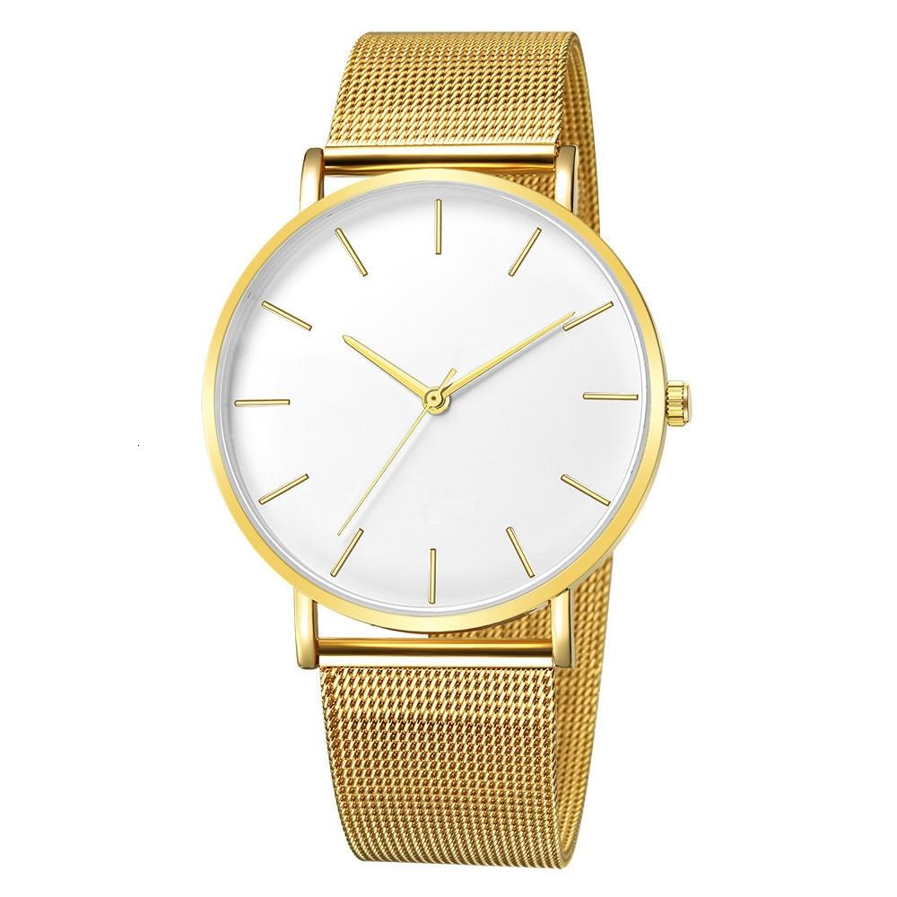 Hbc582ccc5b6643e8be5b1220f782c5dcB Luxury Watch Men Mesh Ultra-thin Stainless Steel Quartz Wrist Watch Male Clock reloj hombre relogio masculino Free Shipping