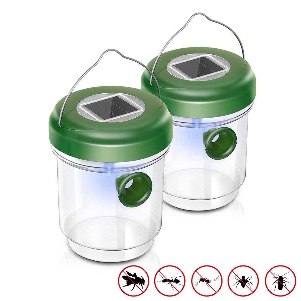 Solar LED Gardening Fly Trap Insect Trap Drosophila Fruit Fly Wasp Non-Toxic Insect Repellents Garden Park  Insect Catcher Tool