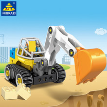 City Engineering Excavator Large Particle Building Blocks Sets LegoINGs Duplo Technic Early Eucation Toys Bricks Christmas Gifts new duplo zoo animal series large particle fit legoings duplo figures city building blocks bricks zoo kids toys diy gift kid toy