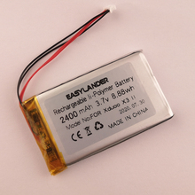 High capacity 3.7V 2400mAh lithium polymer batteries  For Xduoo X3 II Bluetooth Portable HD Lossless MP3/WAV/ FLAC Music Player