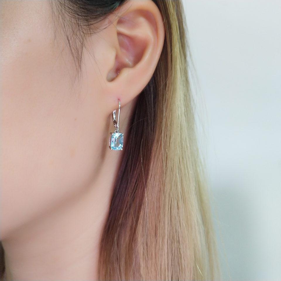 UMCHO Sky blue topaz silver sterling jewelry sets for women S011B-1-PC (14)