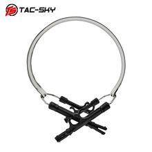 TAC SKY tragbare stirnband hoop halterung für militärische taktische schießen peltor mikrofon headset ersatz stirnband hoop