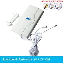 2020 3g 4g lte antena 4g mimo antena ts9 painel externo antena crc9 sma conector 3m 700-2600mhz para 3g 4g huawe roteador modo