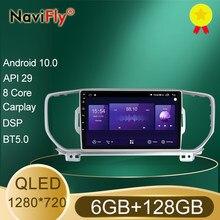 NaviFly – autoradio Android 7862, 6 go/128 go, Navigation GPS, QLED (1280x720), lecteur pour voiture KIA KX5, Sportage 4, QL (10.0 – 2016)