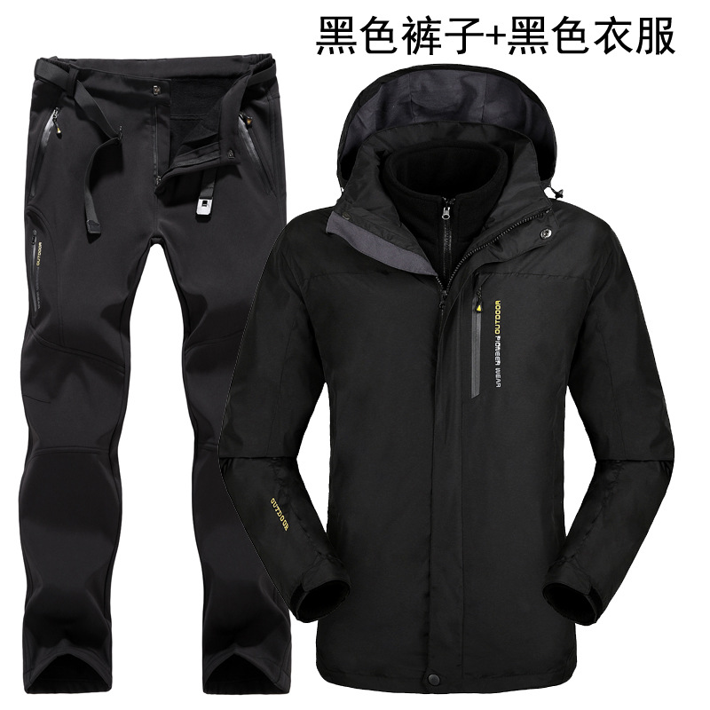 Breathable Outdoor Ski Suit Men's Windproof Waterproof Thermal Snowboard Snow Skiing Jacket And Pants Sets Winter Sports Clothes