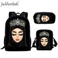 Jackhereluk повседневные школьные сумки для хиджаб для девочки  с лицом  мусульманский  исламский  с глазами  женский рюкзак  школьные сумки  Mochila ...