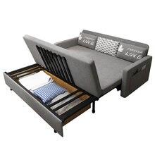 Três à prova de pano dobrável sofá cama sentado e dormindo duplo propósito único e duplo multi-funcional sala de estar pequena