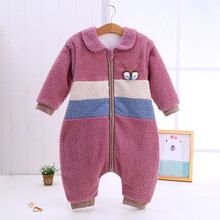 Winter Baby Sleeping Bag Newborn Teddy velvet Cotton Toddler Sleeping Bags Baby Sleep Sacks Cartoon Thick Long Sleeve Sleepsack keying baby sleeping bags velvet with cap 2017 autumn