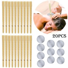 Wax-Removal Beeswax-Therapy Ear-Cleaner D 20pcs Treatment-Care Hollow-Cone Healthy Indian