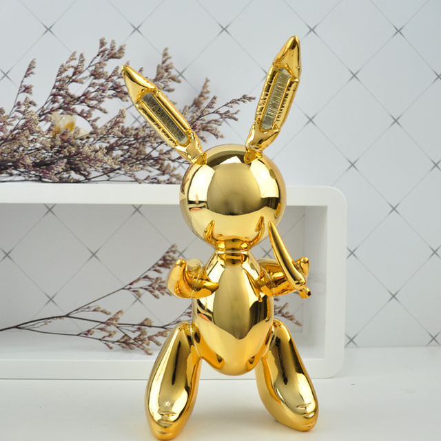 balloon rabbit sculpture home decoration art and craft garden decoration creative statue 6