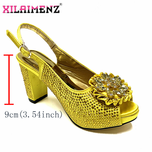 Image 5 - High Quality Italian New Design Matching Shoes and Bag Set in Teal Color Comfortable Heels Lady Shoes and Bag for Party